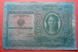 AUSTRIA 100 KRONEN 1912, Serial Number: 30154 - 1824 - Austria