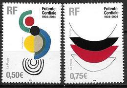 France 2004 N° 3657/3658 Neufs France Grande Bretagne à La Faciale - France