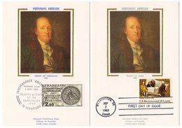 Carte Maximum 1983 - Emission Commune  France USA - Indépendance Américaine - YT 2285 - Le 02/09/1983 - Emissions Communes
