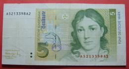GERMANY 5 MARK 1991 - 5 Deutsche Mark