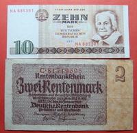 GERMANY LOT X 2 BANKNOTES - [ 3] 1918-1933 : République De Weimar