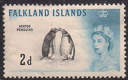 Falkland Islands 1960 - 66 QE2 2d Gentoo Penguins MM SG 195 ( J965 ) - Falkland Islands