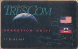 Haiti - HT-TRE-INT-0002A, Operation Haiti (Reverse: Dial 888),  Flags, Globe, Military Forces, Exp.D. 4/97, Mint - NSB - Haïti