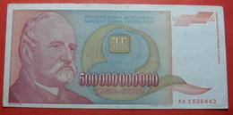 YUGOSLAVIA 500000000000 DINARA 1993, GUINESS RECORD - Yougoslavie