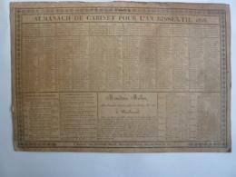 ALMANACH DE CABINET Pour L'An Bissextil  Calendrier 1828  Edit   BORDEAUX  Chez MONDESIR MELON  RECTO VERSEAU - Calendriers