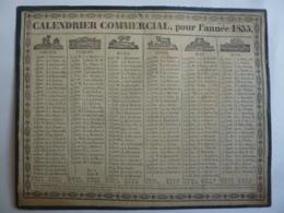 ALMANACH COMMERCIAL   Calendrier 1835  Allégorie Signe Du Zodiacal RECTO VERSEAU Edit Lyon Ayné Frères Libraire - Calendriers