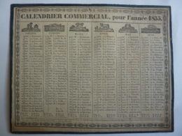 ALMANACH COMMERCIAL,  Calendrier 1835 , Allégorie Signe Du Zodiacal RECTO VERSEAU Edit Lyon Ayné Frères, Libraire, - Calendriers