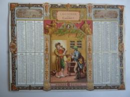ALMANACHL,  Calendrier  De CABINET,  Allégorie  LA VUE,    , Chromo- Lithographie - Calendriers