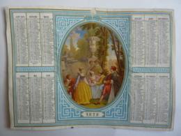 ALMANACHL,  Calendrier  1873 ,  Allégorie  L'AMUSEMENT     , Chromo- Lithographie - Calendriers