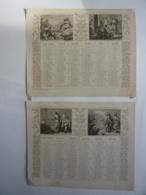 ALMANACH,  Calendrier  2 SEMESTRIELS 1873 - ALLEGORIE  LA VIE DE JESUS  RELIGION , Lithographie - Calendriers