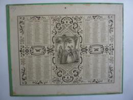 ALMANACHL,  Calendrier  1857 - ALLEGORIE Le Billet  , Lithographie  Empire  Imp. Dubois - Trianon  Edit - Calendriers