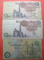 EGYPT LOT X 3 BANKNOTES - Egypte
