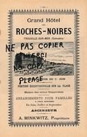Grand Hôtel Des ROCHES NOIRES  Propriétaire MINKWITZ à TROUVILLE SUR MER - Publicités