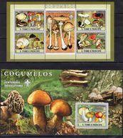 Sao Tome 2007 - Mushrooms.Flora.Nature - MNH**-stamps - MNH** - Del.1 - Mushrooms