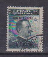 COLONIE ITALIANE - LIBIA 1916 SOPRASTAMPATO SASS. 17 USATO VF - Libia