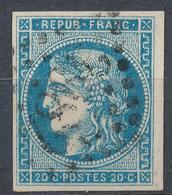 N°45 NUANCE ET OBLITERATION.TIMBRE SIGNE - 1870 Bordeaux Printing