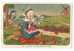"""CPA Dentelées - HUMOUR En 1947 - Il M""""aime . . Et Moi Aussi .. .je L'aime - Edit. J. Nozais Nantes - N° 16 - Recto-Verso - Humour"""