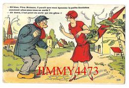 CPA - HUMOUR En 1956 -  Eh Bien Père Molasse, Il Parait Que Vous épousez La Petite Bonichon - Edit.J. Nozais Recto-Verso - Humour