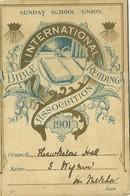 IBRA - INTERNATIONAL BIBLE READING ASSOCIATION 1901 - SUNDAY SCHOOL UNION  - CALENDRIER RELIGIEUX - CARTE DE MEMBRE - Calendars