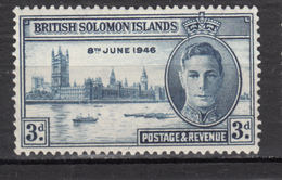 ##28, British Solomon Islands, George VI, Parlement, Bateau, Boat - Iles Salomon (...-1978)