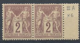 N°85 PAIRE NEUF** - 1876-1898 Sage (Type II)