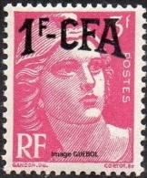 France Réunion Marianne De Gandon N° 289 ** Surchargé CFA 1fr/3 Rose Foncé - 1945-54 Marianne De Gandon