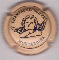 Capsule Champagne MOUTARDIER Philippe ( 29b ; Jaune-orangé Et Noir ) {S08-19} - Non Classés