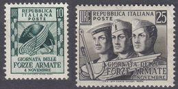 ITALIA - 1952 - Due Valori Nuovi MNH: Yvert 637/638. - 6. 1946-.. Republic