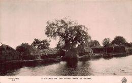 Sudan A Village On The River Bahr El Ghazal Postcard - Sudan