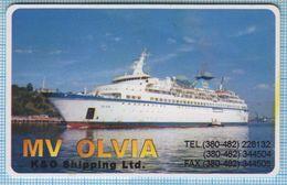 UKRAINE / ODESSA / MV OLVIA / K&O SHIPPIHG Ltd / Liner, Ship / Plastic Card. - Autres Collections