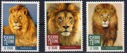 SIERRA  LEONE, 2018, FAUNA, LIONS, 3v - Big Cats (cats Of Prey)