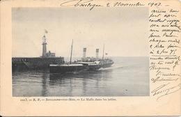BOULOGNE-SUR-MER : La Malle Dans Les Jetées - Boulogne Sur Mer