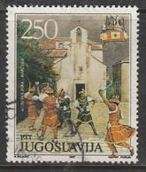 Yugoslavia 1987 Museum Exhibits - Traditional Festivals 250 Din Multicoloured SW 2286 O Used - 1945-1992 République Fédérative Populaire De Yougoslavie