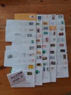 Piece Sur Le Theme De Lot De 262 Enveloppes Timbrees Oblits De France - Marcophilie (Lettres)