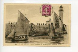 Piece Sur Le Theme De Le Treport - Depart De Barques De Peche Pour Une Promenade En Mer - Le Treport