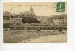 Piece Sur Le Theme De Le Treport - Le Port A Maree Basse - Le Quai Et L Eglise - Le Treport