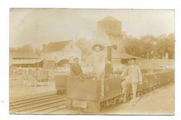 Carte Photo - 1907 - LA MACHINE (58) - Puits Marguerite - Train De Mine Charbon - La Machine