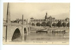 Piece Sur Le Theme De Guerre - Chalon Sur Saone - L Hopital Et Le Pont Saint Laurent - Franchise Militaire - Chalon Sur Saone
