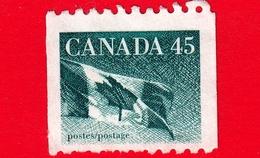 CANADA - Usato - 1995 -  45 Cent -  Bandiera - Canadian Flag Coil - 1952-.... Regno Di Elizabeth II