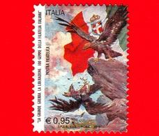 """ITALIA - Usato - 2015 - Mostra Filatelica """"La Grande Guerra"""" - 100 Gemme - Cartolina Di Propaganda """"L'epilogo"""" - 0,95 &e - 6. 1946-.. Repubblica"""