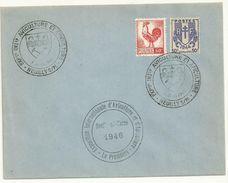 BELLE ENVELOPPE AVEC CACHET EXPOSITION INTERNATIONALE AVICULTURE / APICULTURE NEUILLY SUR MARNE 1er JUIN 1946 - Cachets Commémoratifs