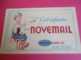 Buvard/NOVEMAIL/C'est Enfantin Avec Novenail/ Novemail émaille Vite/Vers 1945-1960   BUV339 - Peintures
