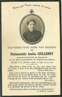 IMAGE RELIGIEUSE - FAIRE PART DE DÉCÈS - Mademoiselle Amelia GUILLEMOT - 1927 - CHALONS SUR MARNE - BOUASSE LEBEL - Obituary Notices