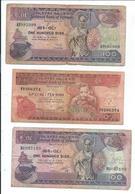 Ethiopie,lot De 3 Billets Anciens - Ethiopie