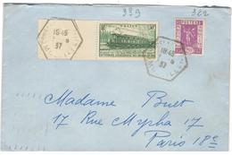 14236 - COURCELLES SUR NIED - Postmark Collection (Covers)
