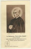 IMAGE RELIGIEUSE AVEC ÉTOFFE AYANT TOUCHE AU BIENHEUREUX - PIERRE JULIEN EYMARD - Obituary Notices