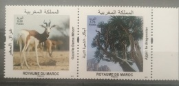 Morocco 2017 MNH Complete Set 2v. - Fauna & Flora, Gazelle Animal & Ajgal Tree - Morocco (1956-...)