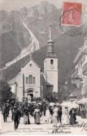 CPA   74   CHAMONIX---L'EGLISE ET LE BREVENT---1906 - Chamonix-Mont-Blanc