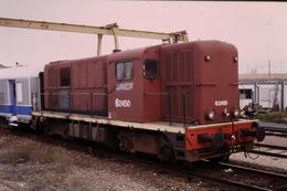 Photo Diapo Diapositive Slide Train Wagon Loco Locomotive Diesel SNCF 62450 VOIR ZOOM - Diapositives
