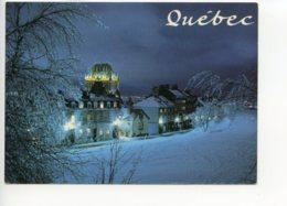 Piece Sur Le Theme De Canada - Quebec - Chateau Frontenac A La Nuit - Non Voyagee - Quebec